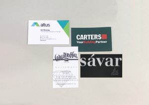 Copy print nz leave a lasting impression with a customised business card that speaks to the character of your company reheart Choice Image